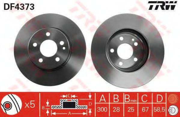 Тормозной диск TRW DF4373