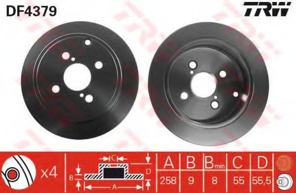 Тормозной диск TRW DF4379