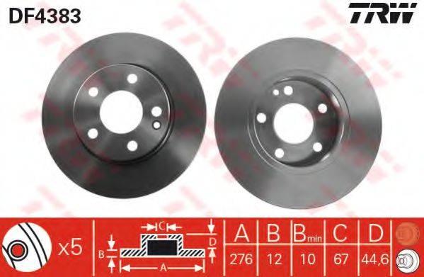 Тормозной диск TRW DF4383