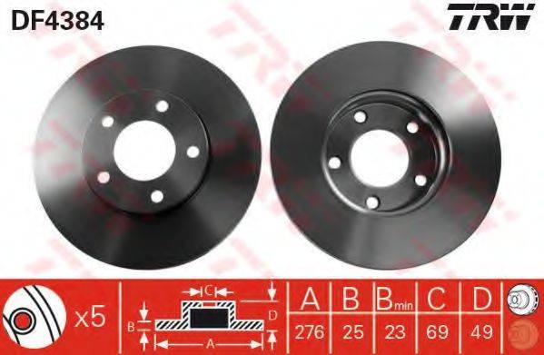 Тормозной диск TRW DF4384