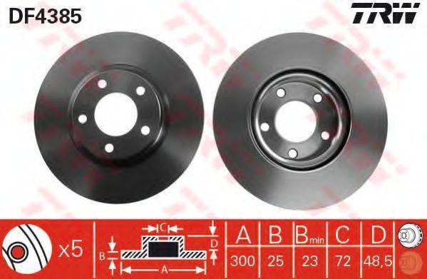 Тормозной диск TRW DF4385