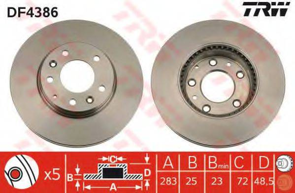 Тормозной диск TRW DF4386