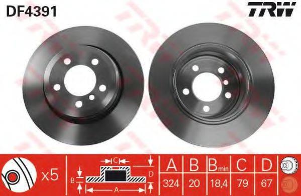 Тормозной диск TRW DF4391
