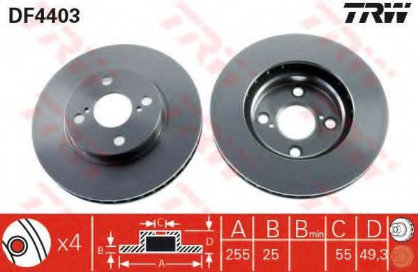 Тормозной диск TRW DF4403