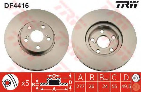 Тормозной диск TRW DF4416
