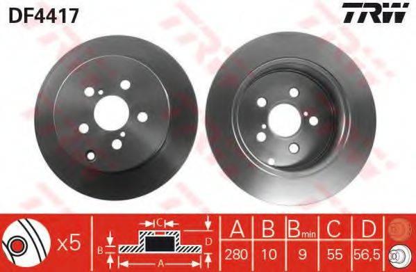 Тормозной диск TRW DF4417