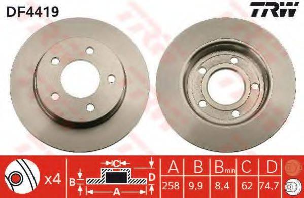 Тормозной диск TRW DF4419
