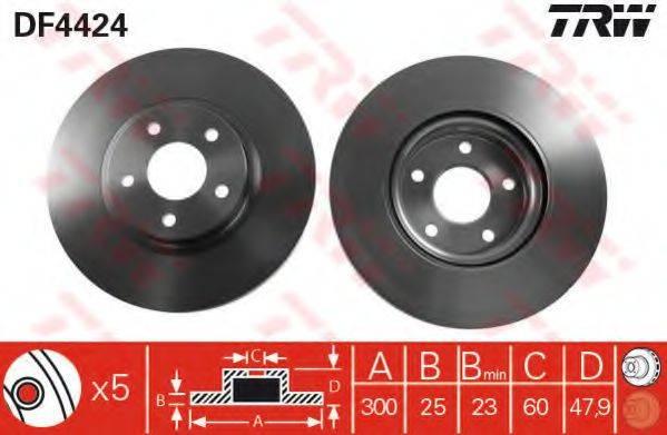 Тормозной диск TRW DF4424