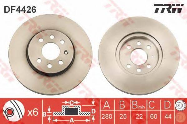 Тормозной диск TRW DF4426
