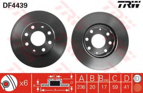 Тормозной диск TRW DF4439