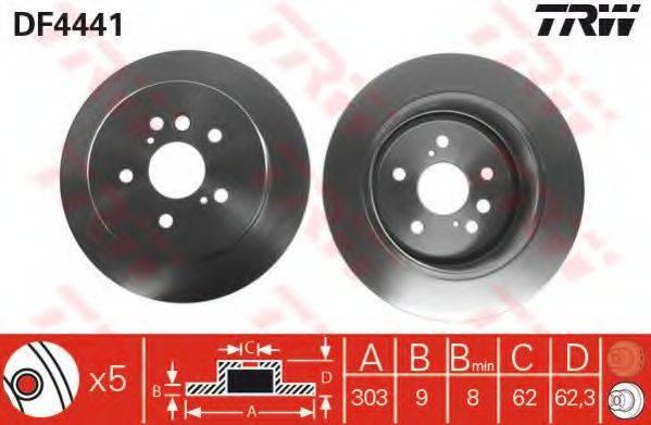 Тормозной диск TRW DF4441