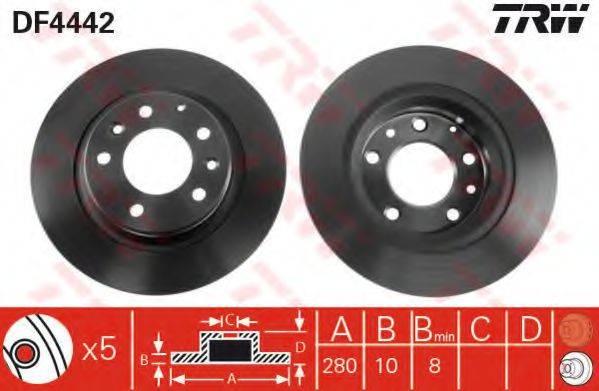 Тормозной диск TRW DF4442