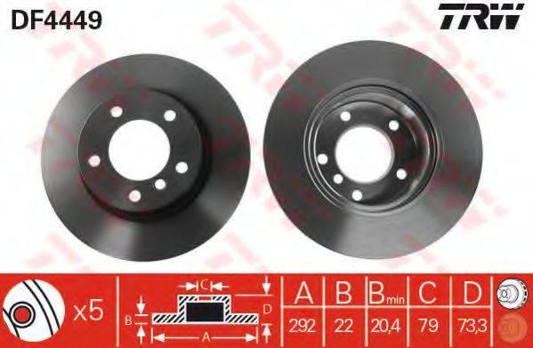 Тормозной диск TRW DF4449