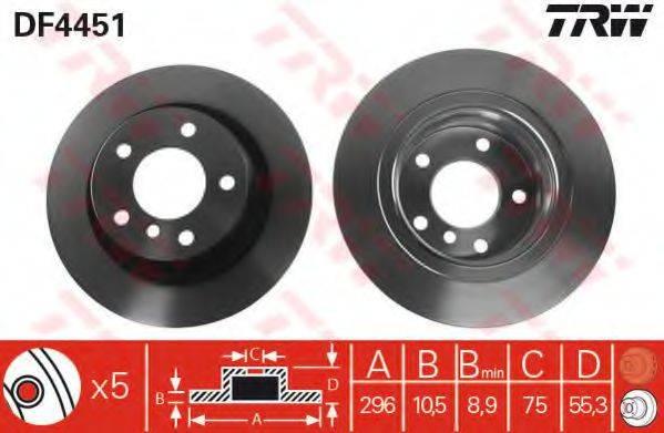 Тормозной диск TRW DF4451
