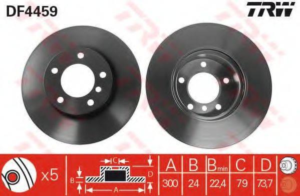 Тормозной диск TRW DF4459