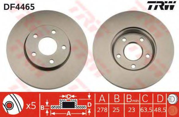 Тормозной диск TRW DF4465