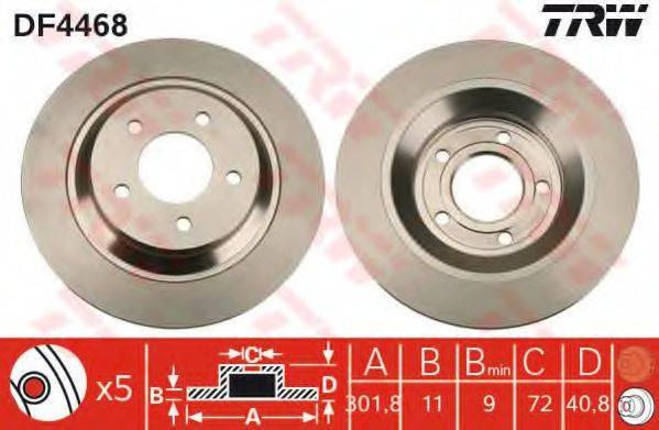 Тормозной диск TRW DF4468