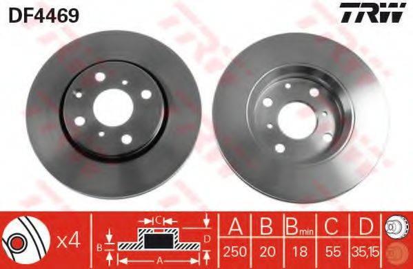 Тормозной диск TRW DF4469