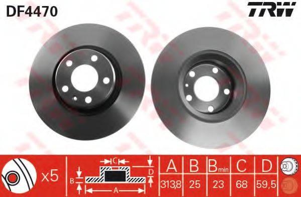 Тормозной диск TRW DF4470