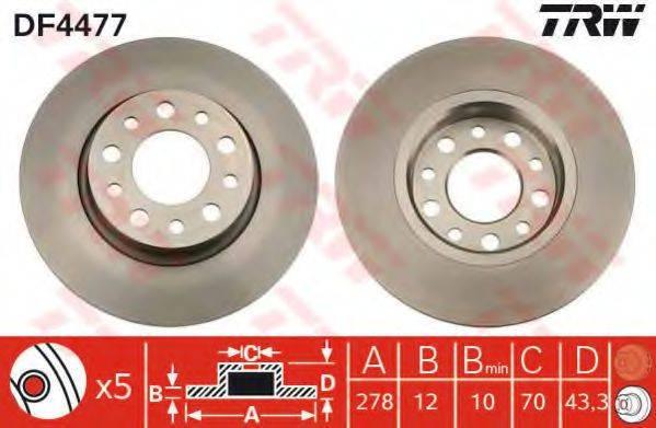 Тормозной диск TRW DF4477