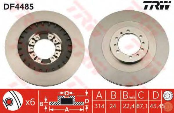 Тормозной диск TRW DF4485