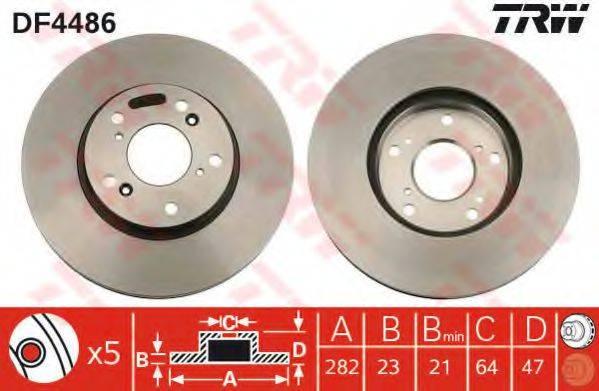 Тормозной диск TRW DF4486