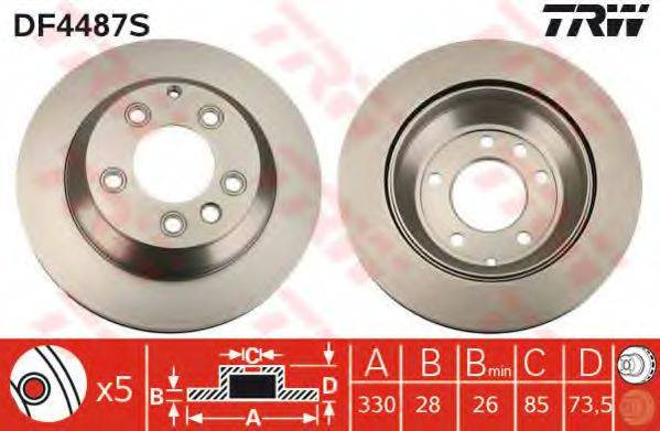 Тормозной диск TRW DF4487S