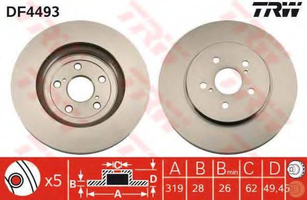 Тормозной диск TRW DF4493