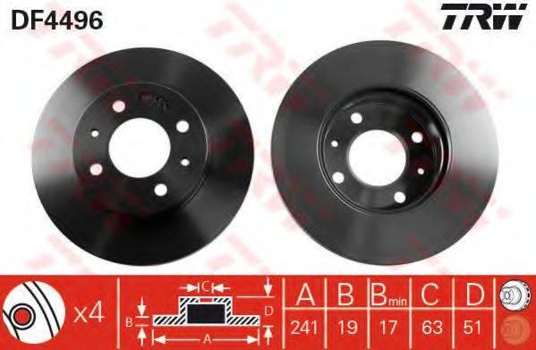 Тормозной диск TRW DF4496
