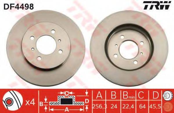 Тормозной диск TRW DF4498