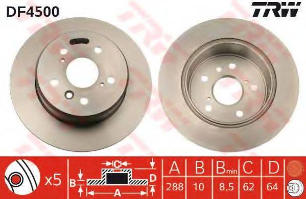 Тормозной диск TRW DF4500