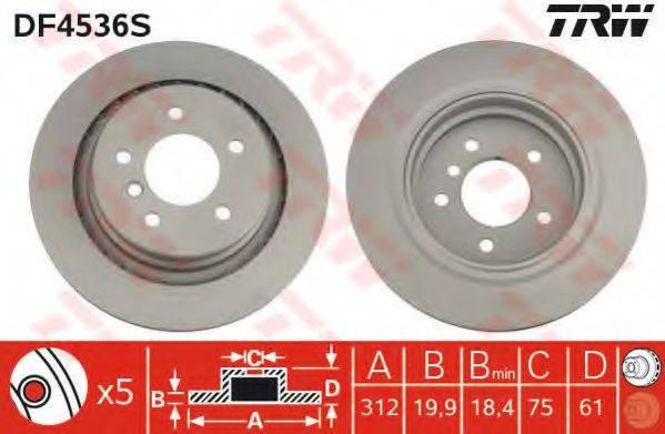 Тормозной диск TRW DF4536S