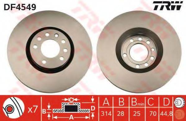 Тормозной диск TRW DF4549