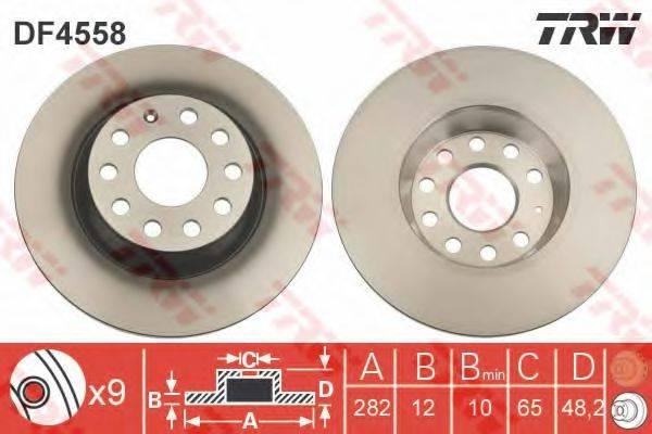 Тормозной диск TRW DF4558