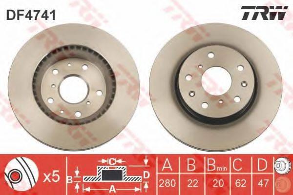 Тормозной диск TRW DF4741