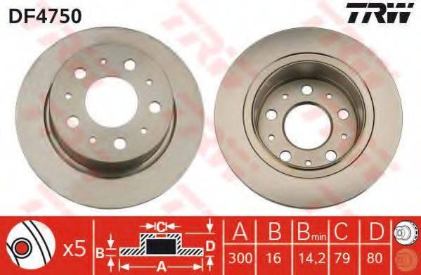 Тормозной диск TRW DF4750