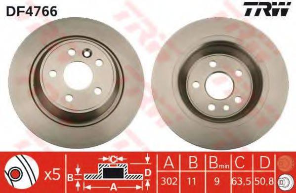 Тормозной диск TRW DF4766