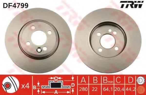 Тормозной диск TRW DF4799