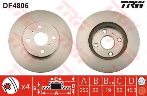 Тормозной диск TRW DF4806
