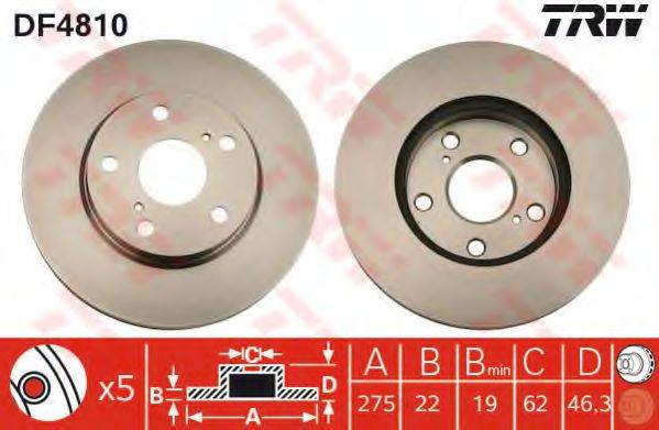 Тормозной диск TRW DF4810