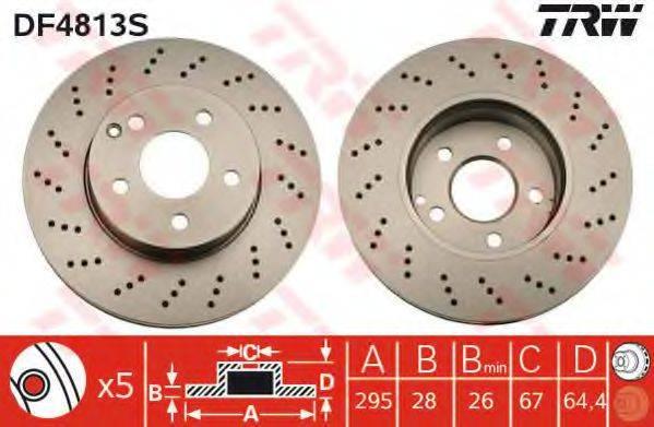 Тормозной диск TRW DF4813S