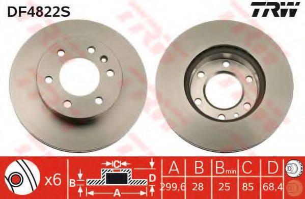 Тормозной диск TRW DF4822S