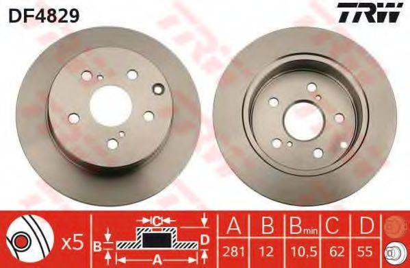 Тормозной диск TRW DF4829