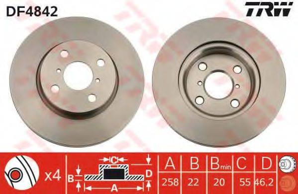Тормозной диск TRW DF4842