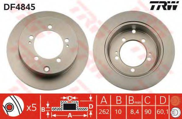 Тормозной диск TRW DF4845