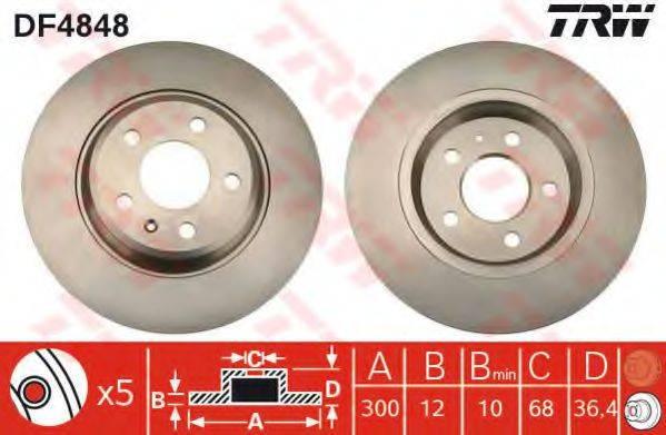 Тормозной диск TRW DF4848