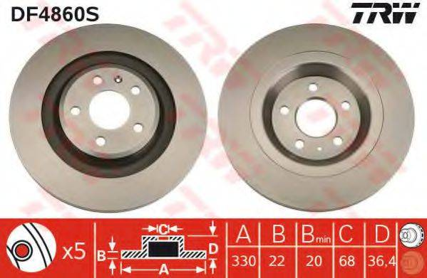 Тормозной диск TRW DF4860S