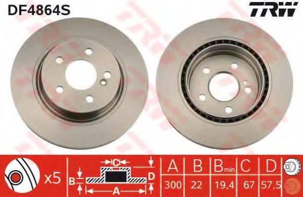 Тормозной диск TRW DF4864S