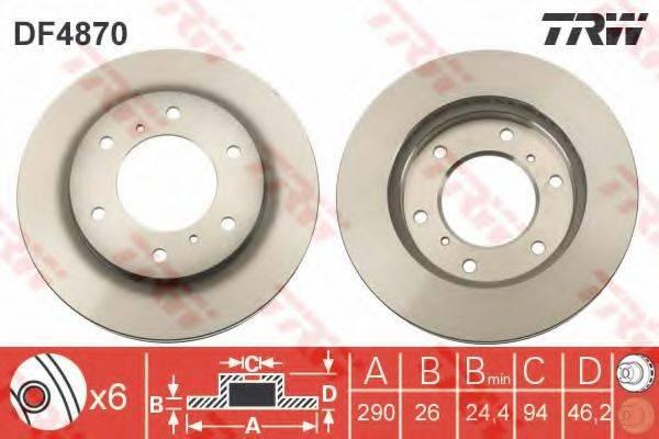 Тормозной диск TRW DF4870