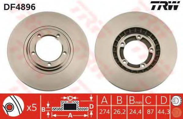 Тормозной диск TRW DF4896